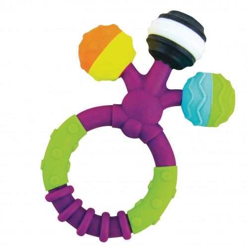 sassy prongy ball teether