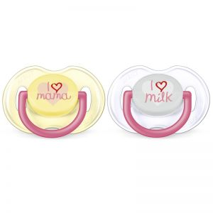 Philips AVENT Soother fashion I Love You 0-6m - Pige