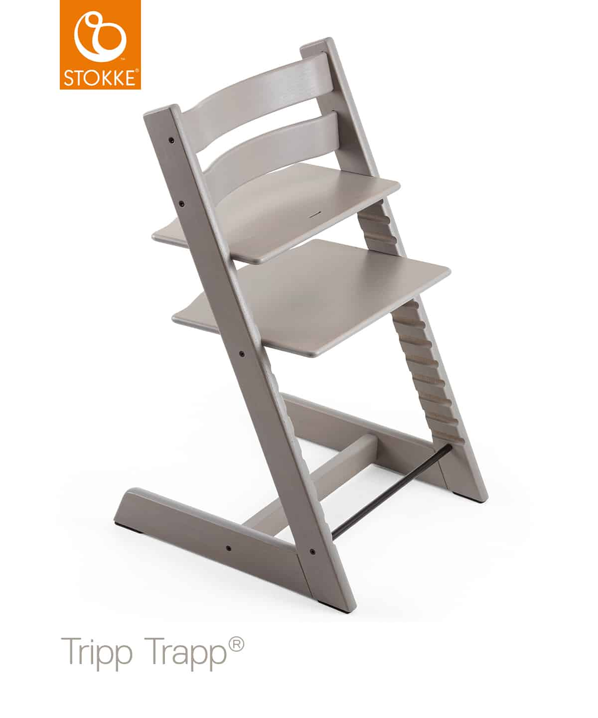 stokke tripp trapp h jstol oak grey k b stokke hos k re b rn. Black Bedroom Furniture Sets. Home Design Ideas