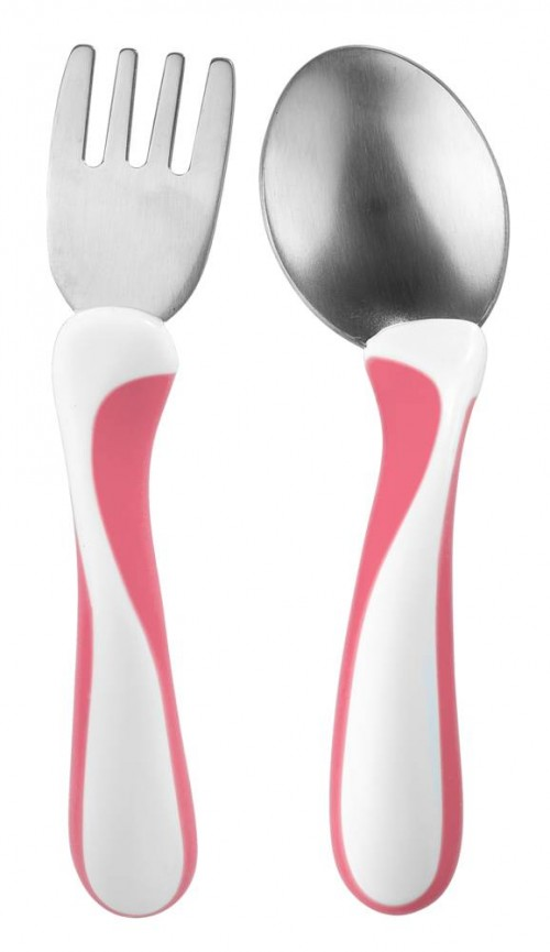 Bambino My first FORK & SPOON cerise