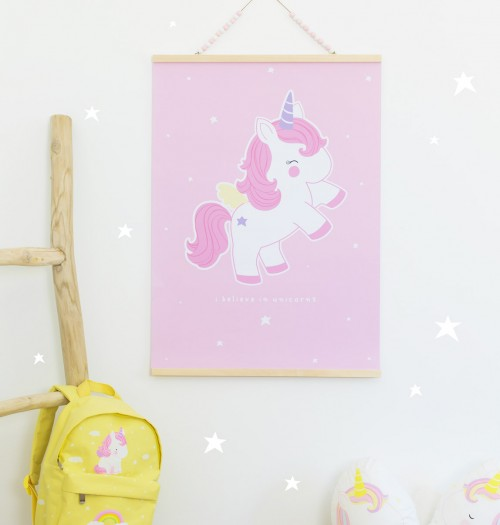 A Little Lovely Plakat Baby Unicorn 50x70 cm.