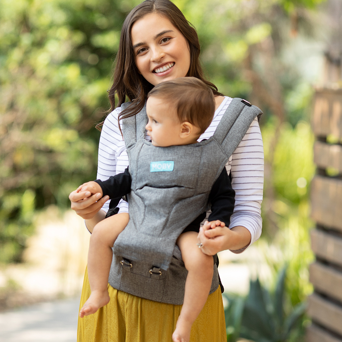 Moby 2-in-1 Carrier + Hip seat - Grey