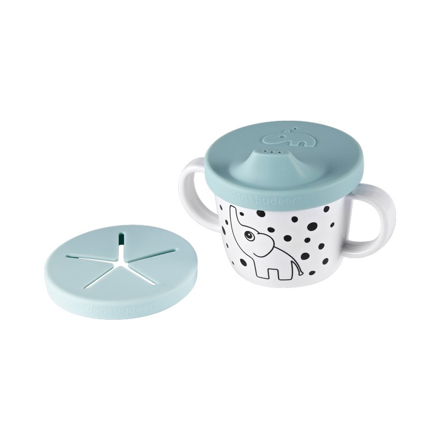 Done By Deer Silicone Spout/Snack Cup Elphee - Blue