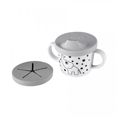 Done By Deer Silicone Spout/Snack Cup Elphee - Grey